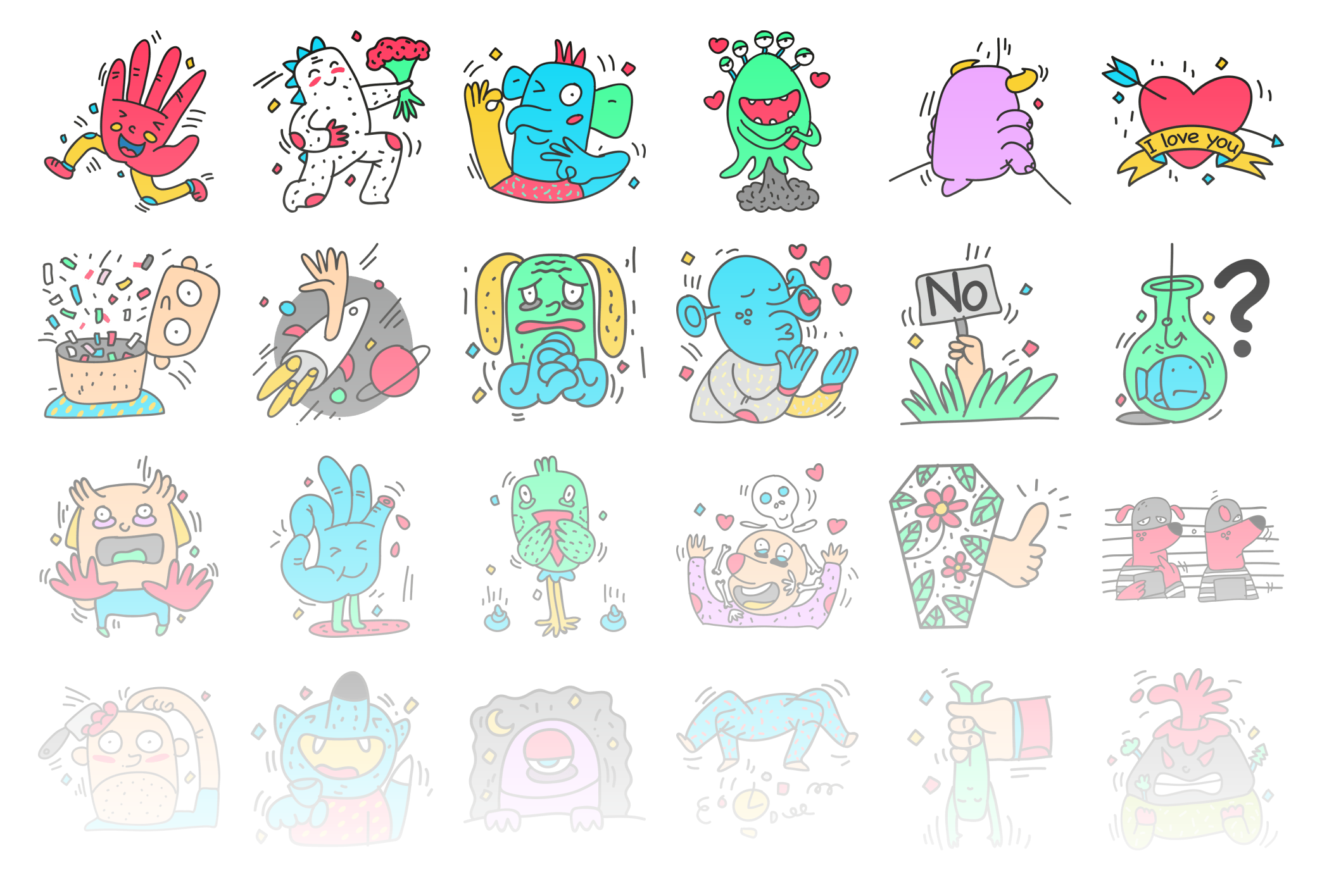 Monsters - Stickerpipe