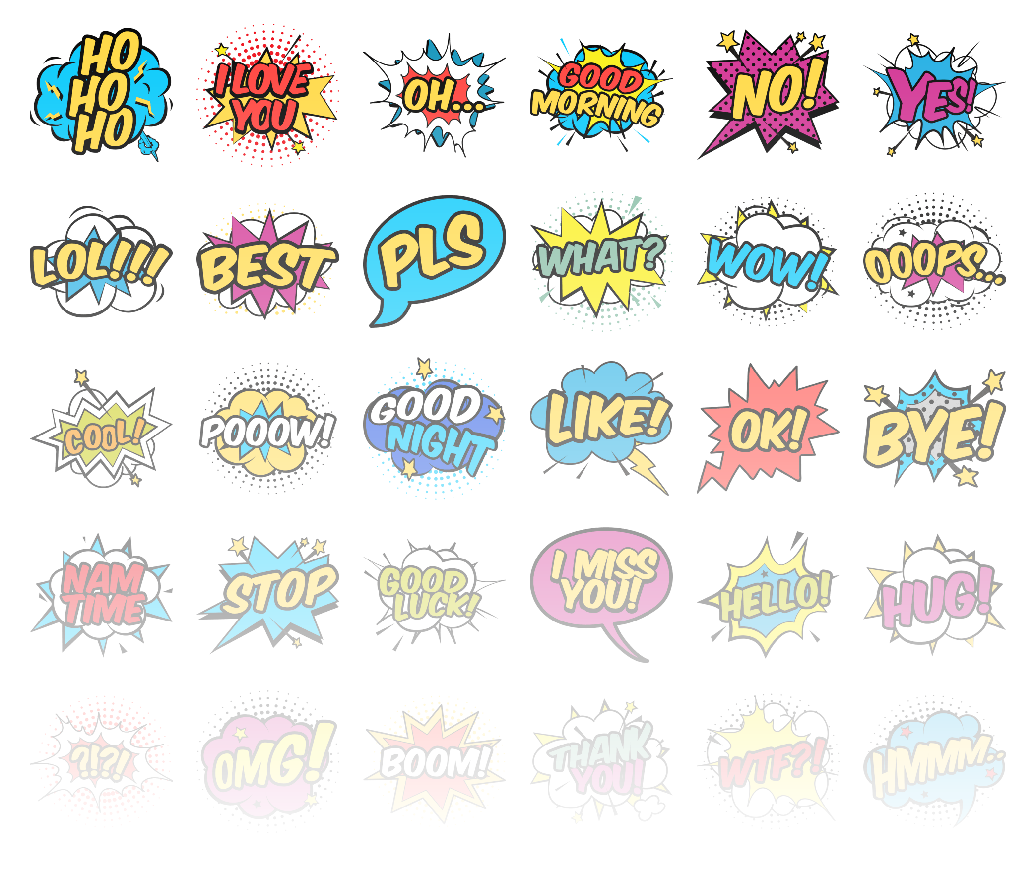 Comic bubbles - Stickerpipe