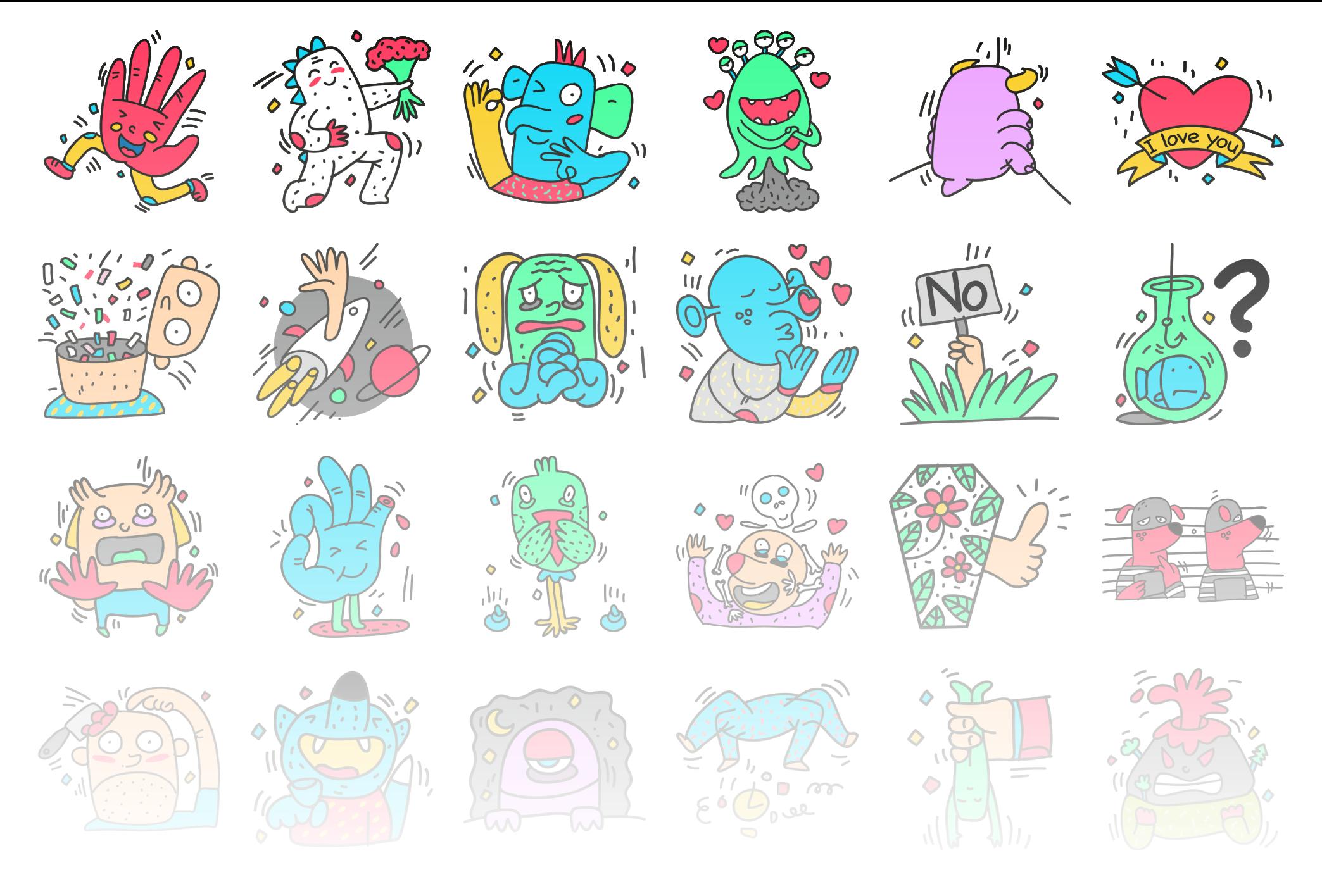 Monsters - Stickerpipe