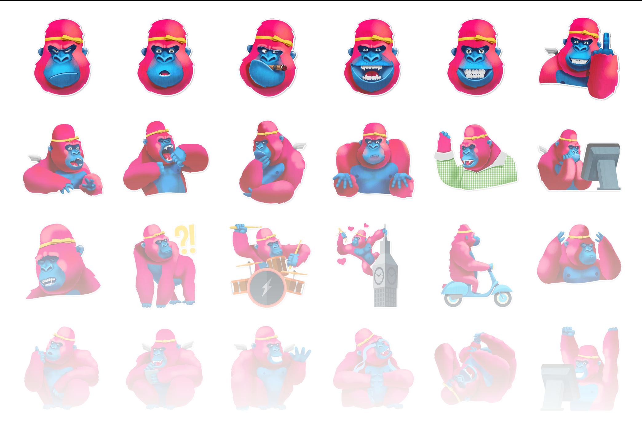 Pink Gorilla - Stickerpipe